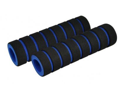 Gripy LONGUS FOUMY čierne/modré, penové