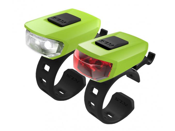 Osvetlenie set KLS VEGA USB, lime green