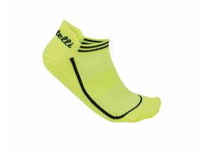 Ponožky CASTELLI INVISIBILE žltá fluo