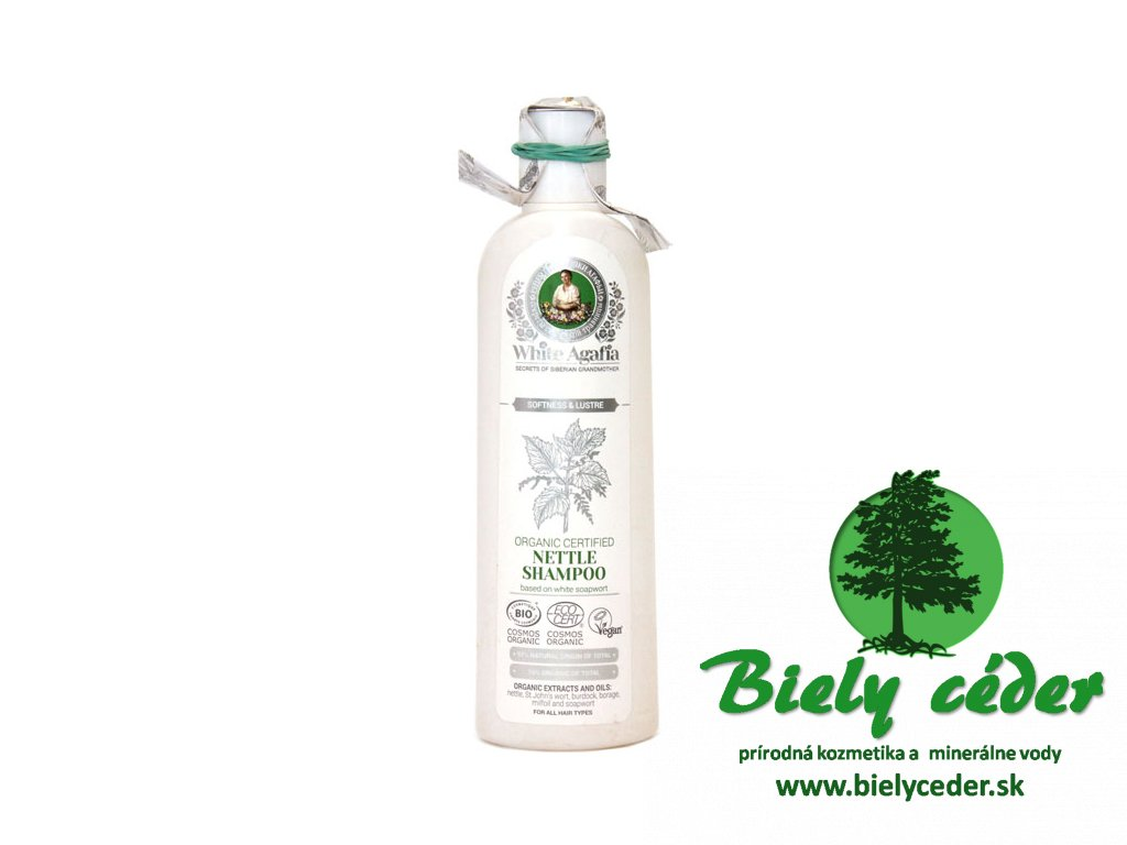 Certifikovaný organickýžihľavový šampón