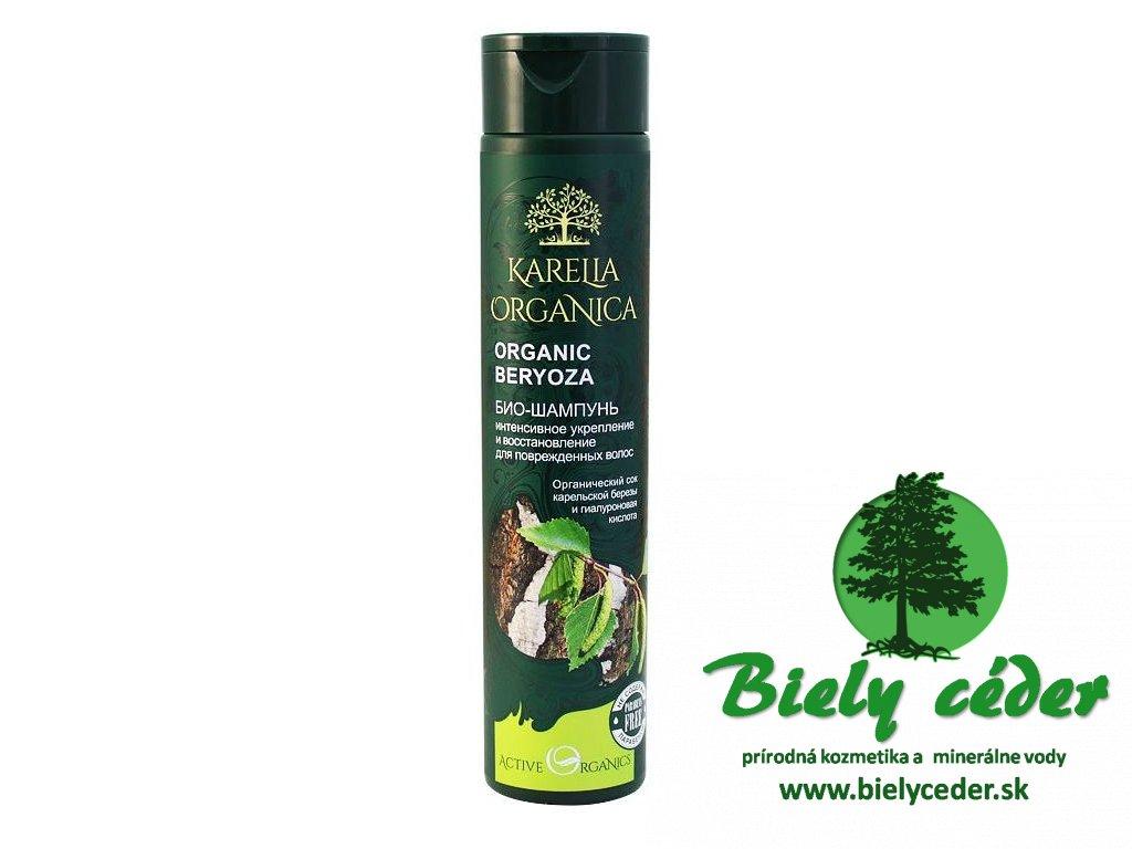 breza. KARELIA ORGANICA. Bio šampón Intenzívne spevnenie a regenerácia. ORGANICKÁ  BREZA. na poškodené vlasy 721381ad444