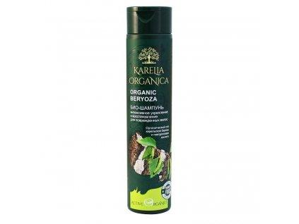 KARELIA ORGANICA Bio šampón Intenzívne spevnenie a regenerácia ORGANICKÁ  BREZA na poškodené vlasy 310 ml 361ab088774