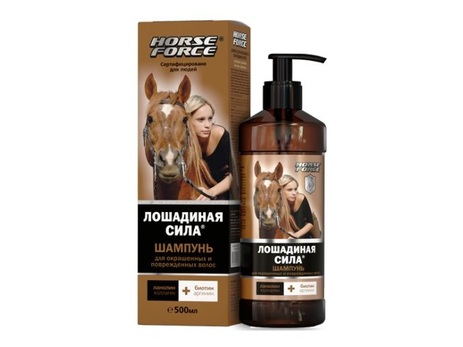horse force shampoo for dyed and damaged hair