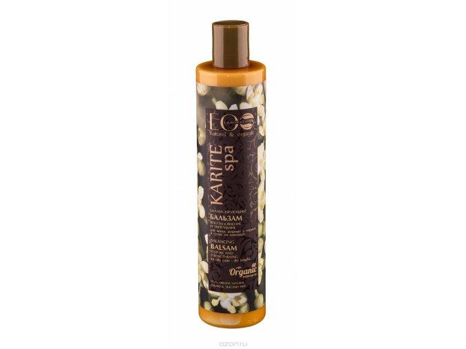 ECO Laboratorie - Karite Spa: Regeneračný a spevňujúci balzam na vlasy mastné pri korienkoch a suché na končekoch 350 ml