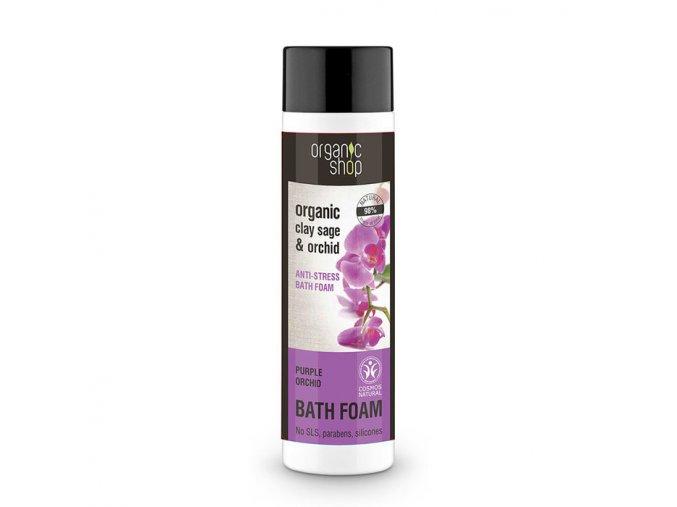 Organic Shop: Protistresová pena do kúpeľa Organická šalvia a orchidea 500 ml