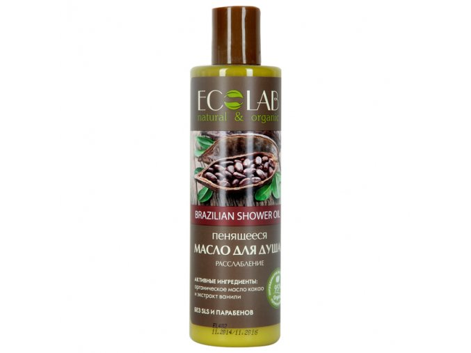 ECO LABORATORIE natural & organic Penivý sprchový olej Uvoľnenie 250 ml
