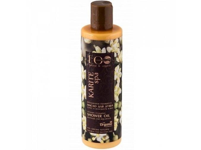 ECO LABORATORIE natural & organic  KARITE SPA - Vitamínový penivý sprchový olej  Tonus a mladosť pokožky 250 ml