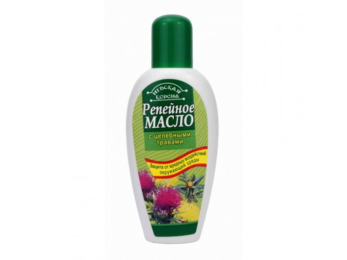 NEVSKÁ KORUNA Lopúchový olej s liečivými bylinami 100 ml
