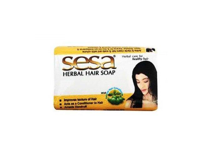 SESA Výživné bylinné ajurvédske  mydlo na vlasy 75 g