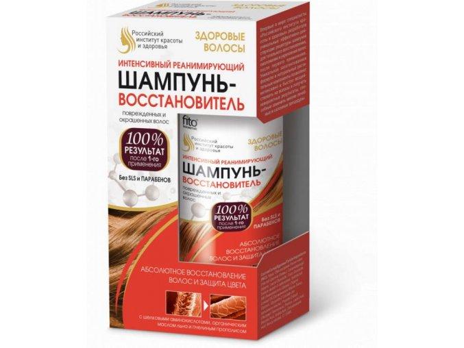 FITO KOSMETIK  - Ruský inštitút krásy a zdravia ZDRAVÉ VLASY  Intenzívny reanimačný šampón na poškodené a farbené vlasy 150 ml
