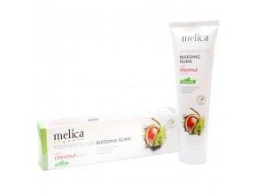 MELICA Organická zubná pasta s extraktom z pagaštanu na ďasná so sklonom ku krvácaniu  100 ml