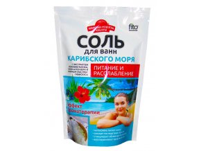 FITO KOSMETIK Svetové recepty krásy Soľ do kúpeľa z KARIBSKÉHO MORA - Výživa a uvoľnenie 500 g