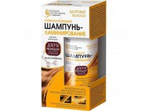 FITO KOSMETIK  - Ruský inštitút krásy a zdravia ZDRAVÉ VLASY  Super spevňujúci šampón LAMINOVANIE na všetky typy vlasov 150 ml