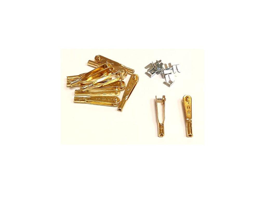 Kovová vidlička zlatá M2