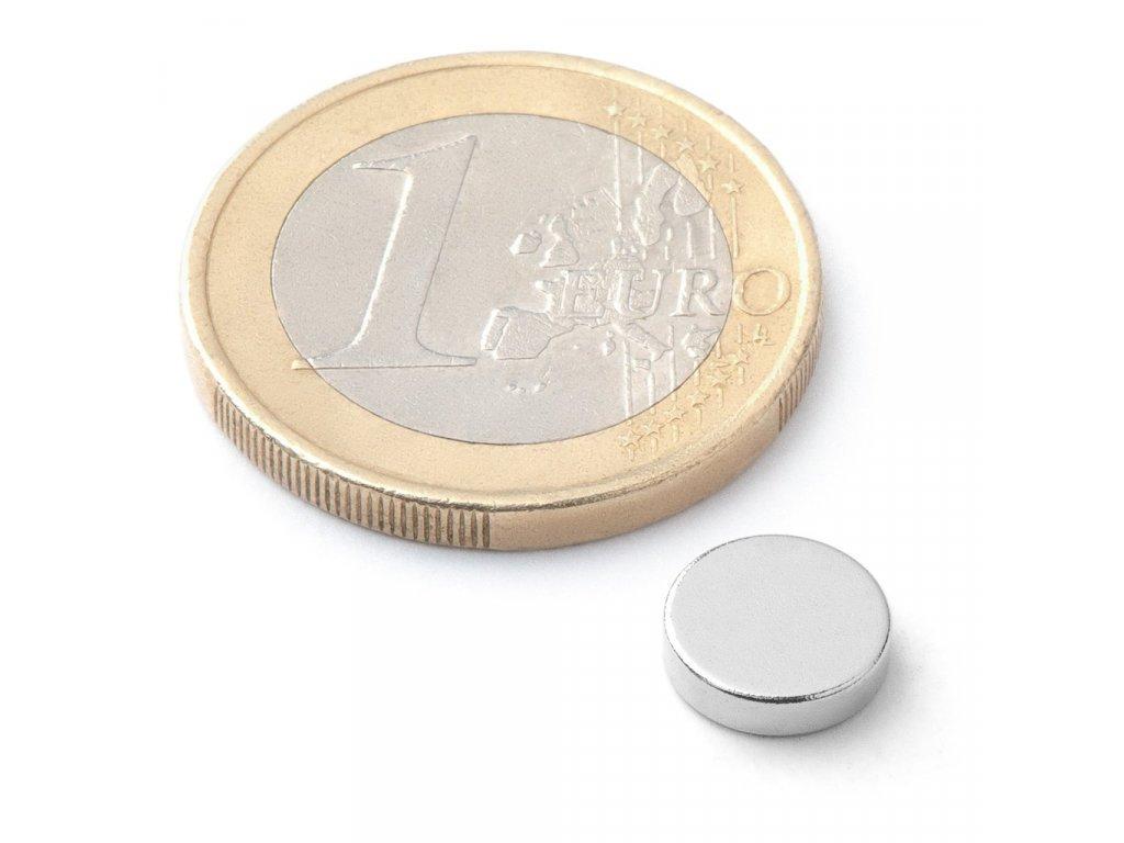 Extra silný neodymový magnet kruhový 8x2mm