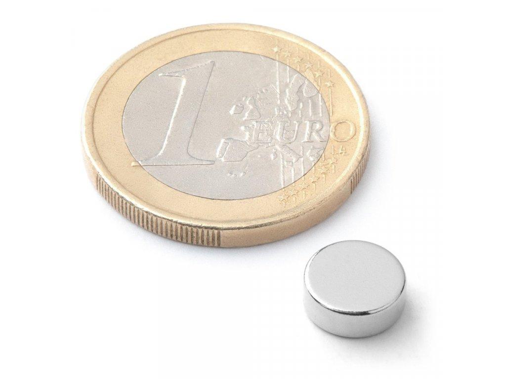 Extra silný neodymový magnet kruhový 8x3mm