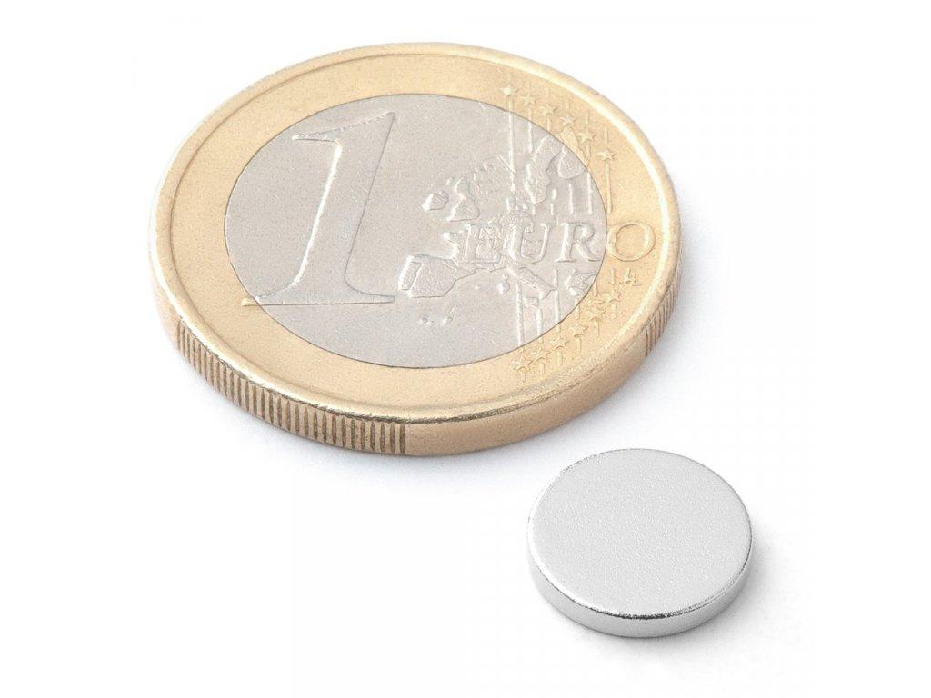 Extra silný neodymový magnet kruhový 10x1,5mm