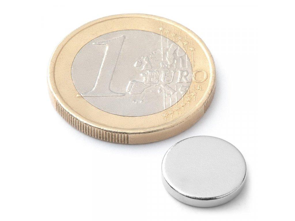 Extra silný neodymový magnet kruhový 12x2mm