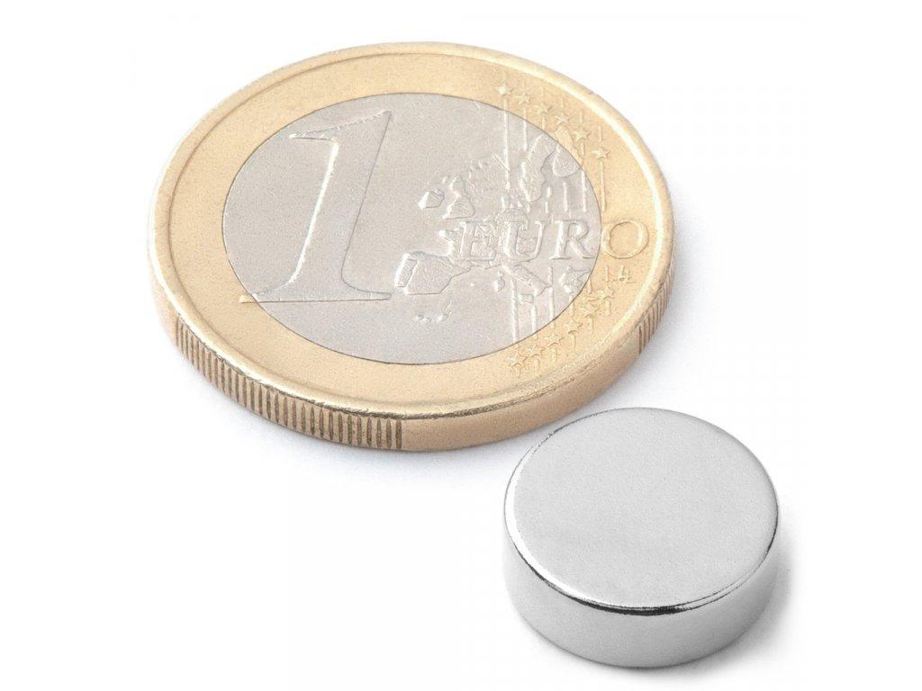 Extra silnýneodymový magnet kruhový 12x4mm