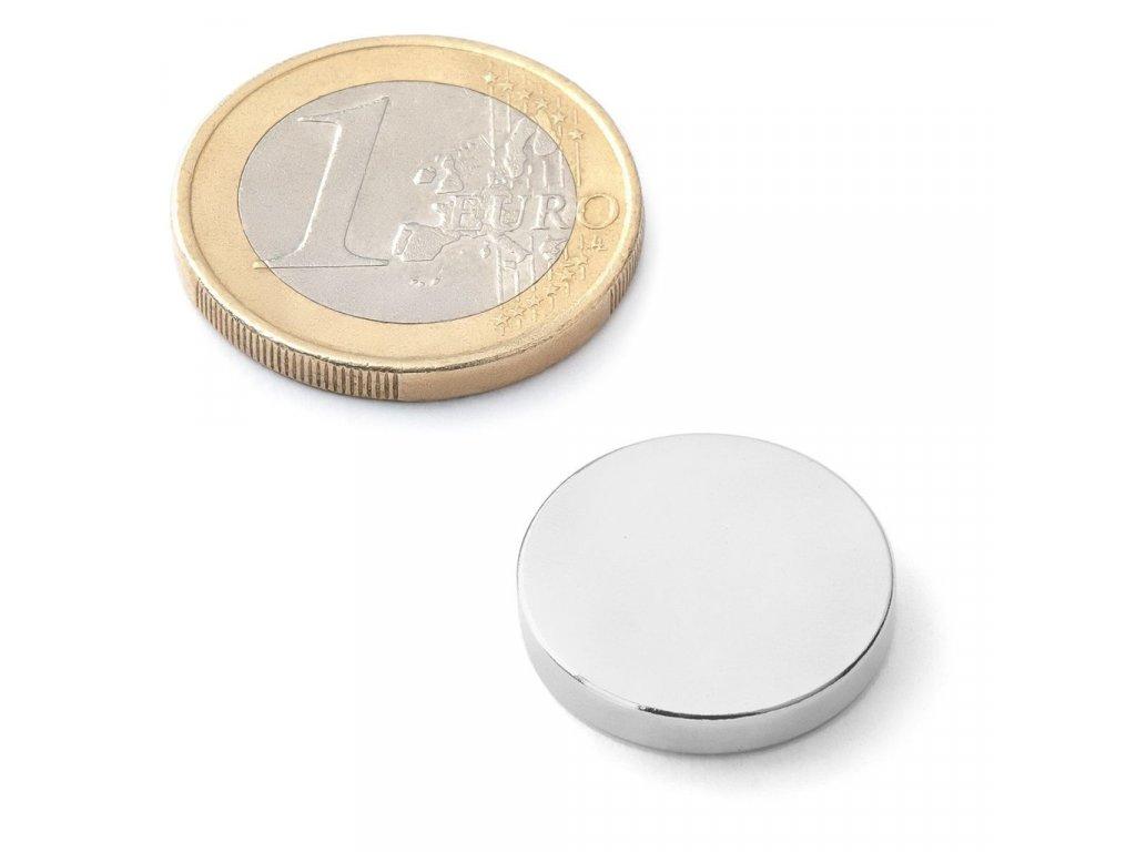 Extra silný neodymový magnet kruhový 18x3mm