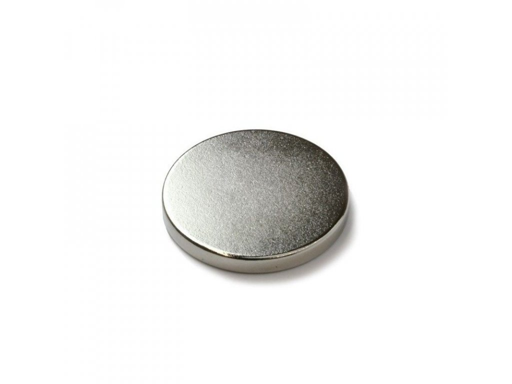 Extra silný neodymový magnet kruhový 20x2mm