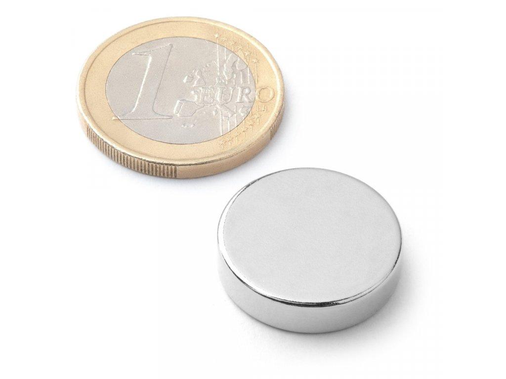 Extra silný neodymový magnet kruhový 20x5mm