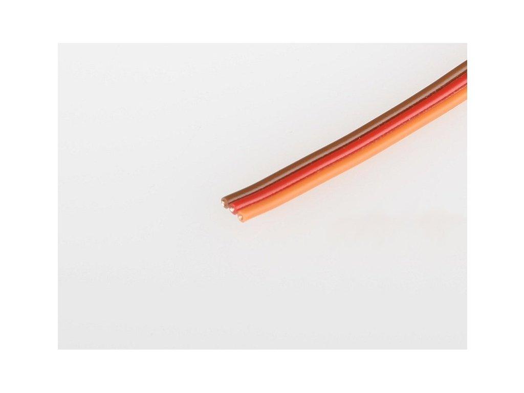 Servo kabel JR plochý 26AWG  (tenký 0,15mm) - 10cm