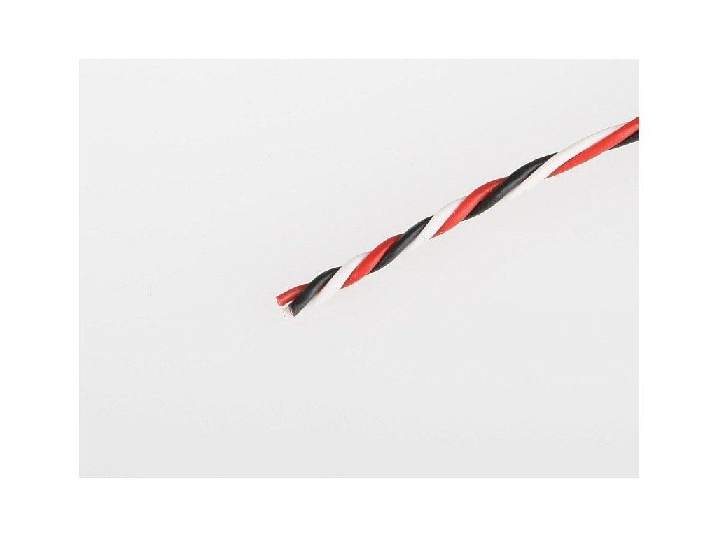 Servo kabel FUT kroucený 26AWG  (tenký 0,15mm) - 10cm