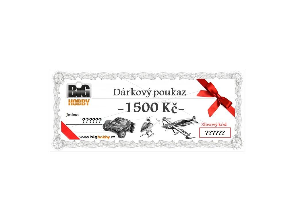 Dárkový poukaz v hodnotě 1500,-Kč