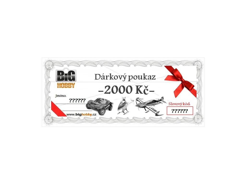 Dárkový poukaz v hodnotě 2000,-Kč