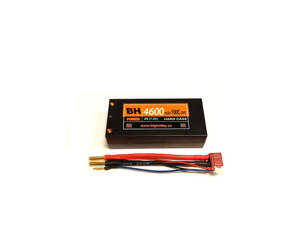 BH Power 4600 mAh 2S 100C (200C) HC (short HC), 1.6-1.7mΩ