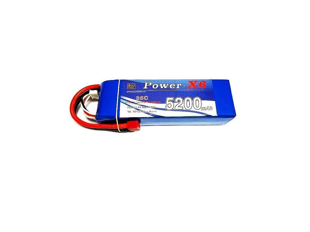 Power X6 5200 mAh 2S 25C (50C)