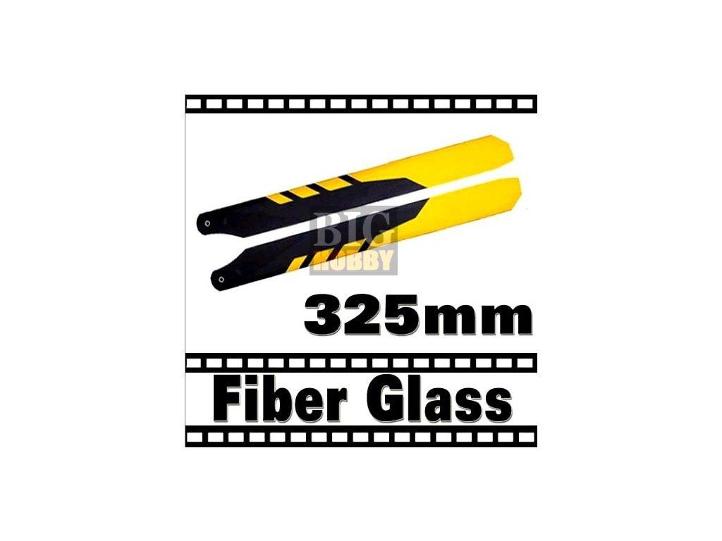 Hlavní rotorové listy 325mm - Laminát (žlutá,černá)