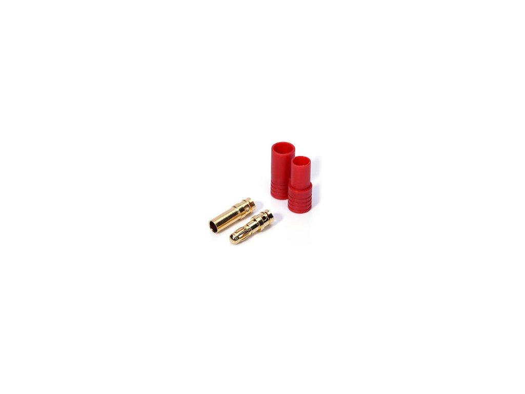 3,5mm zlatý konektor s domečkem (pár)