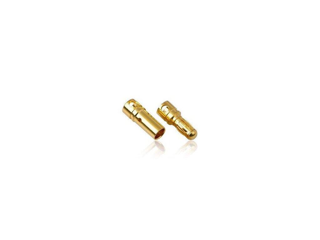 3,5mm zlatý konektor (pár)