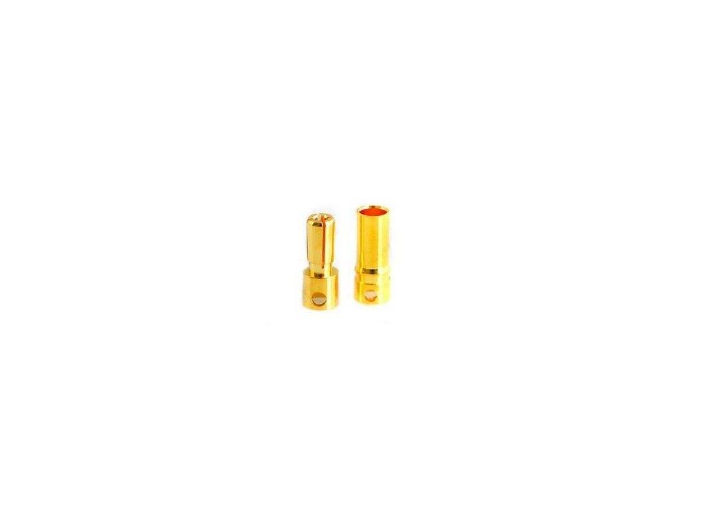 3,5mm zlatý konektor pružinový (pár)