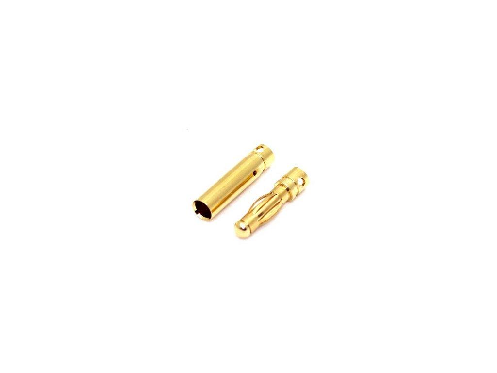 4mm zlatý konektor (pár)