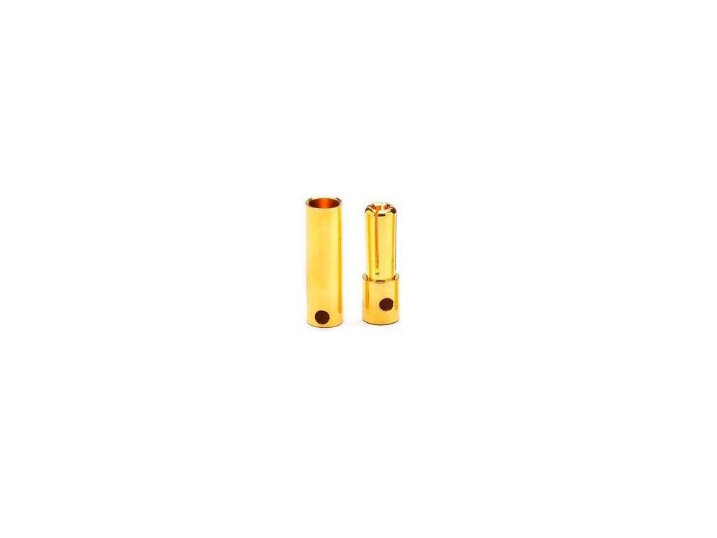 4mm zlatý konektor pružinový (pár)