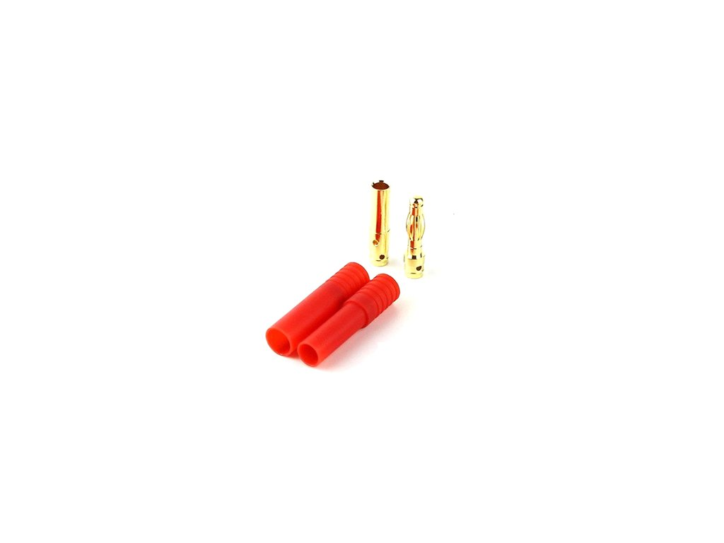 4mm zlatý konektor s domečkem (gold bullet)