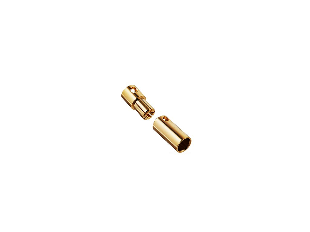 5 mm zlatý konektor (pár)