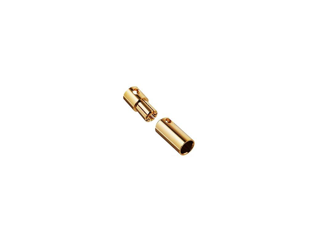 6 mm zlatý konektor (pár)