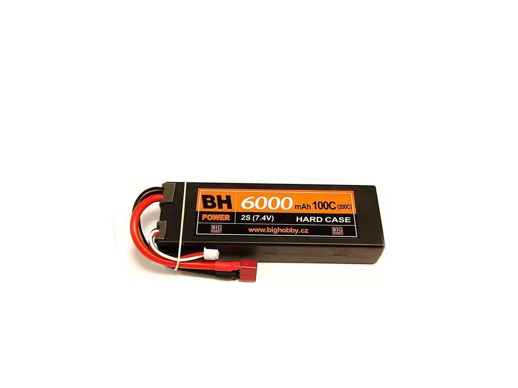 BH Power 6000 mAh 2S 100C (200C) HC (B), 1.6-1.7mΩ