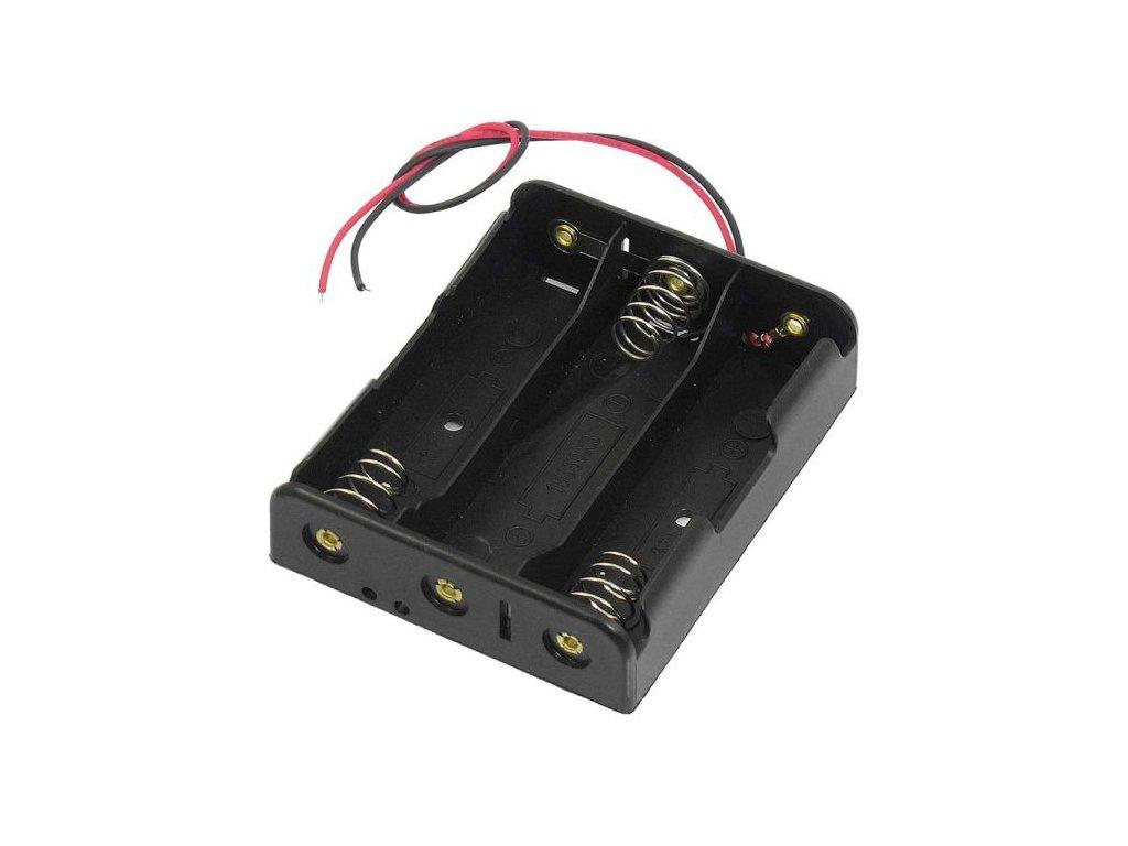 Držák baterie akumulátoru li-ion 3x18650