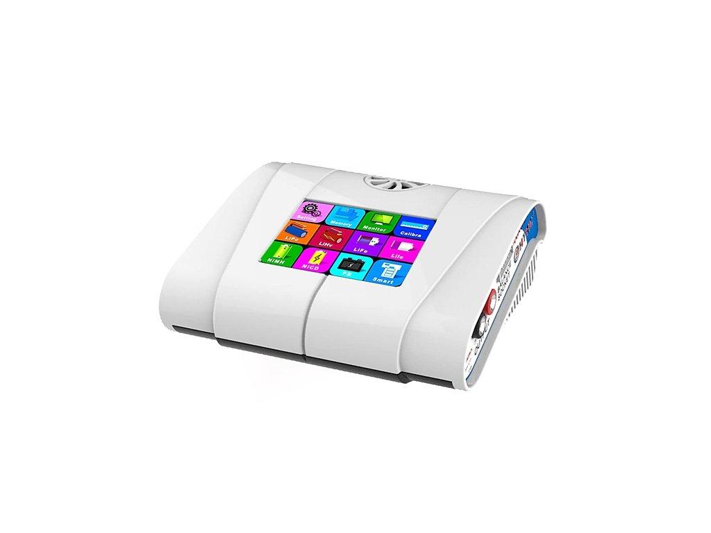 Nabíječ HT 100 (100W- 10A) - dotykový, barevný LCD (bílý), vestavěný zdroj -A-