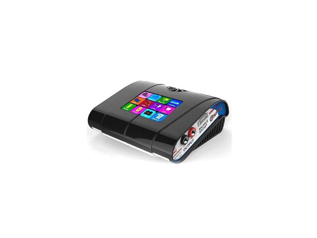 Nabíječ HT 100 (100W- 10A) - dotykový, barevný LCD (černý), vestavěný zdroj -A-