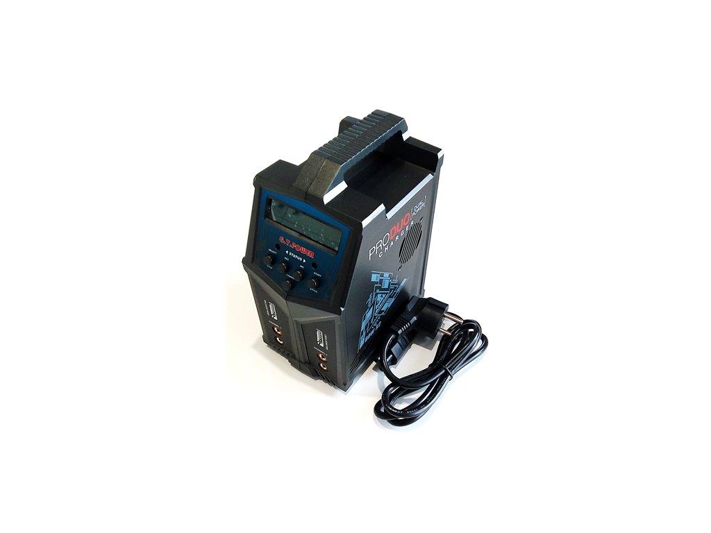 Nabíječ GT Power X2 Pro Duo 2x80W 7A Lipo, LiHV, LiFe, Li-ion, Nixx, PB AC/DC