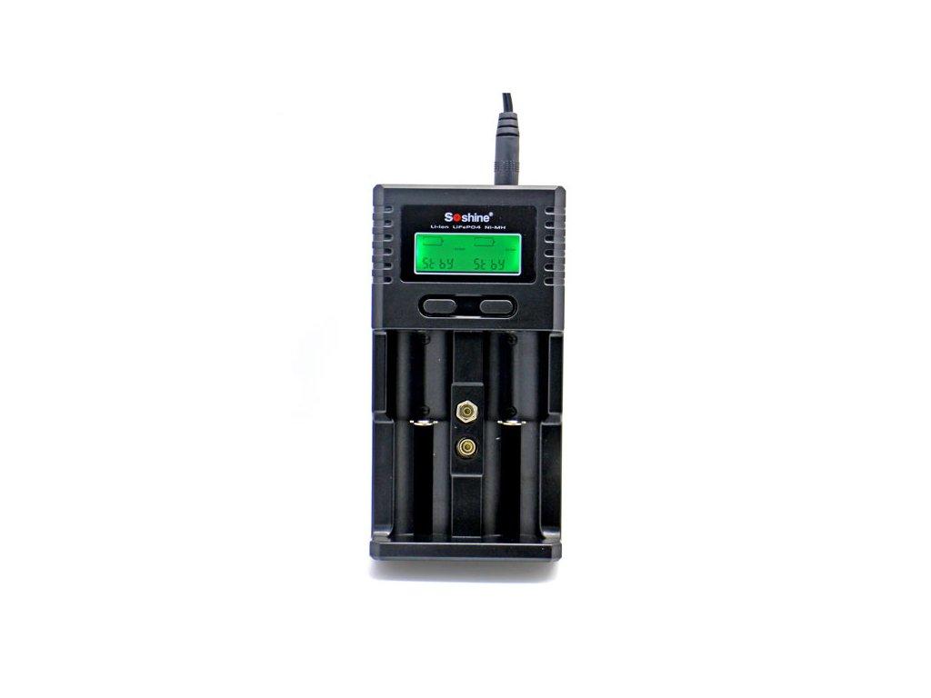 Univerzální nabíječka Soshine H2 s LCD (Li-Ion, NiMH, LiFePo4) - AKCE !