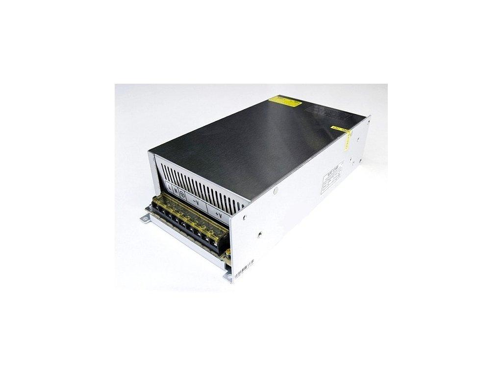 Průmyslový napájecí (spínaný) zdroj  48V 10A  480W (aktivní chlazení)