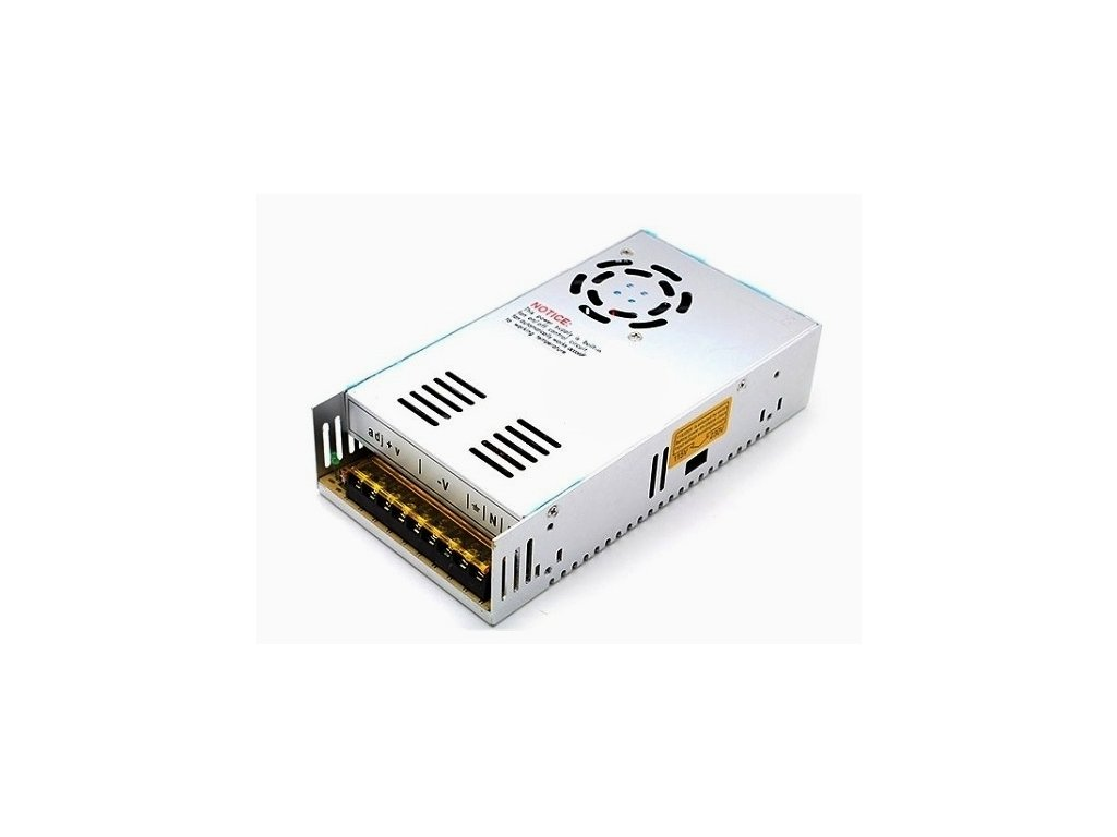 Průmyslový napájecí (spínaný) zdroj 12V 25A  300W (aktivní chlazení) - A