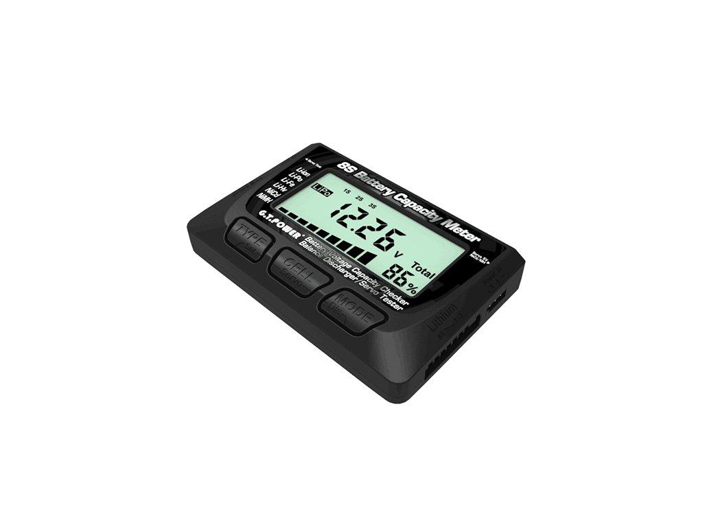 G.T. Power 8S - měřič napětí,capacity, balancování, servo tester